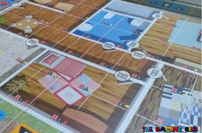 Flash Point Fire Rescue game board close up