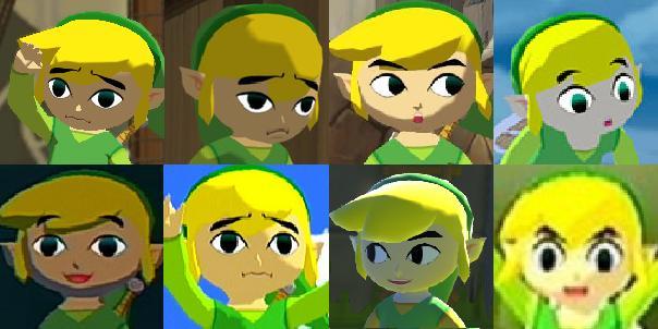 loz ww - link faces