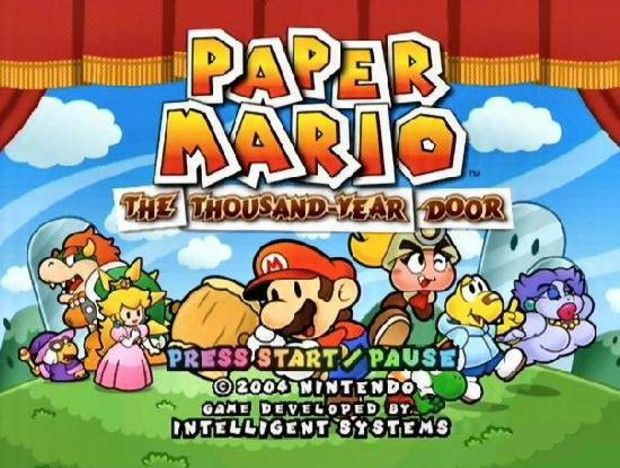 paper mario - title screen