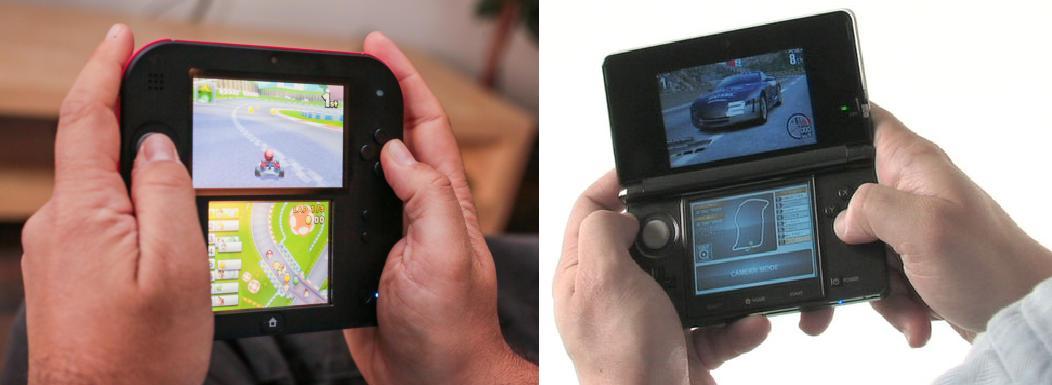 2ds vs 3ds - in hands