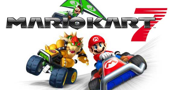 mario kart 7 - title screen