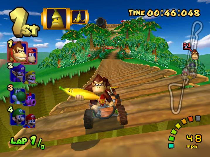 mario kart double dash - donkey and diddy kong