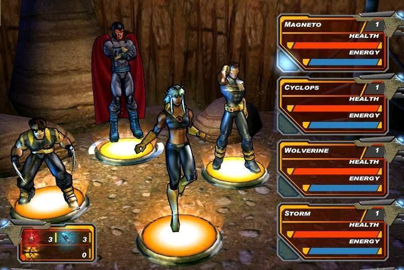 x-men legends 2 - team management screen