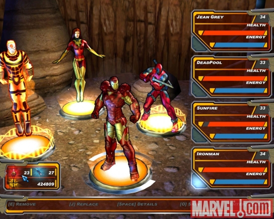 x-men legends 2 - team management with iron man