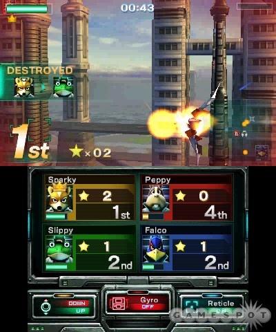Star Fox 64 3d - battle mode