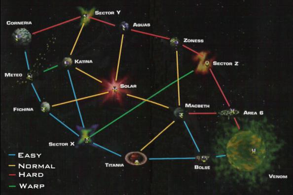 Star Fox 64 3d - planets