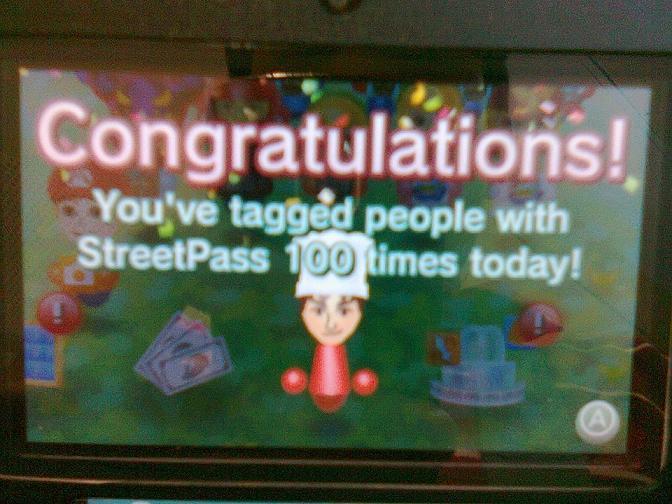 streetpass mii plaza - 100 tags