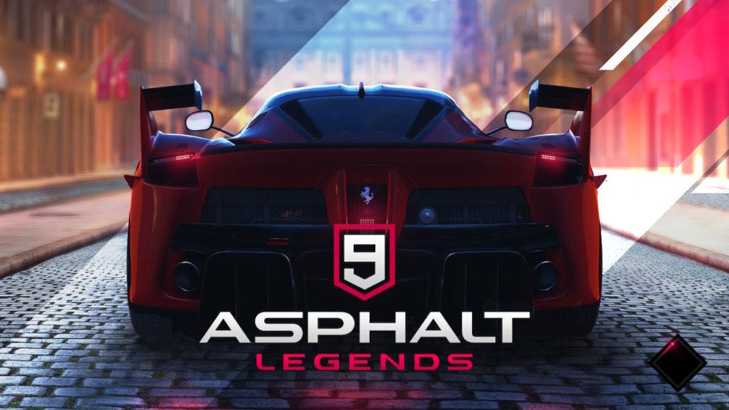 Asphalt 9 Legends title screen.