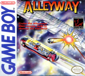 Box art for Alleyway for the Nintendo Game Boy.