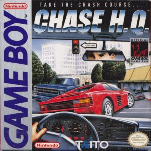 Box art for Chase H.Q. for the Nintendo Game Boy.