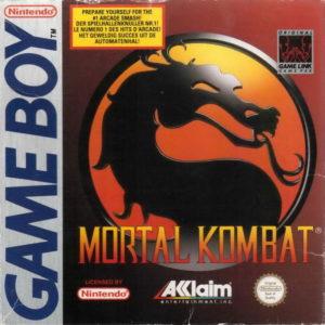 Box art for Mortal Kombat for the Nintendo Game Boy.