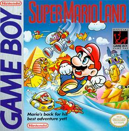 Box art for Super Mario Land for the Nintendo Game Boy.Ima