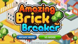 Amazing Brick Breaker title screen.