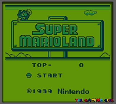 super mario land title screen