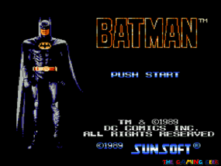 Title screen for Batman: The Video Game