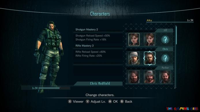 Raid Mode characters
