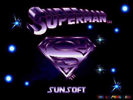 Superman - title screen