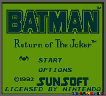 Batman: Return of the Joker title screen.