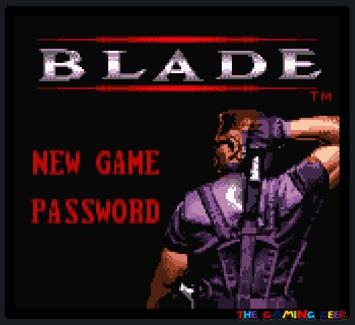Blade - Title screen