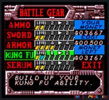 Battle Gear upgrades