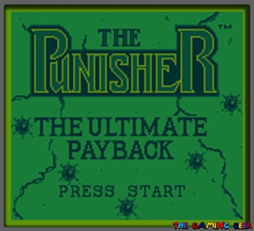 The Punisher: The Ultimate Payback title screen