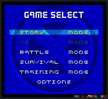 X-Men: Mutant Academy game modes