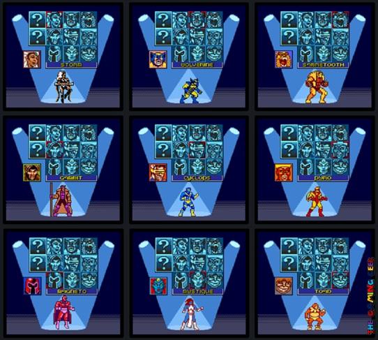 X-Men: Mutant Academy fighter roster