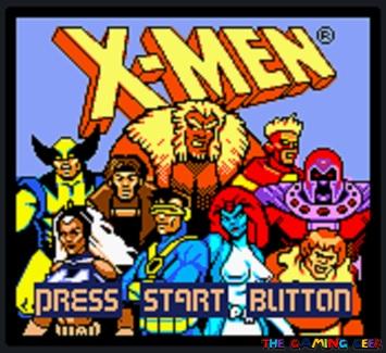 X-Men: Mutant Academy title screen