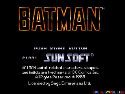 Batman: The Video Game title screen