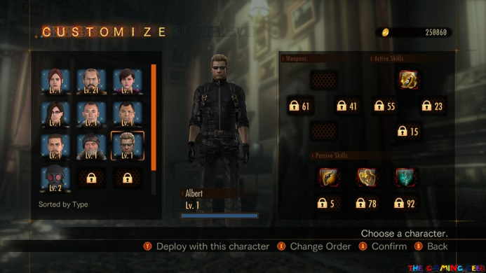 Raid Mode Character selection