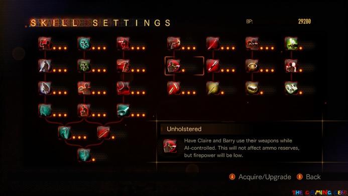 Resident Evil Revelations 2 Skill Upgrades