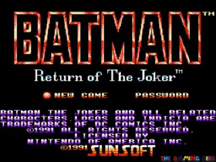 Batman: Return of the Joker title screen