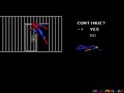 Spider-Man vs The Kingpin continue screen