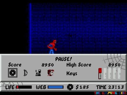 Spider-Man vs The Kingpin Pause Menu