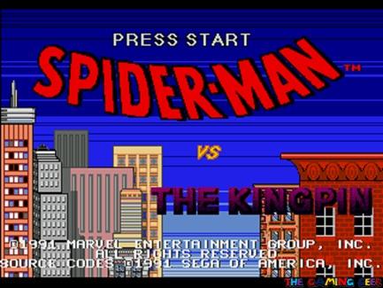 Spider-Man vs The Kingpin title screen