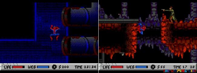 Spider-Man wall crawling