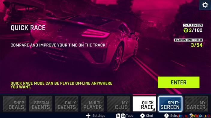 Quick Race Mode