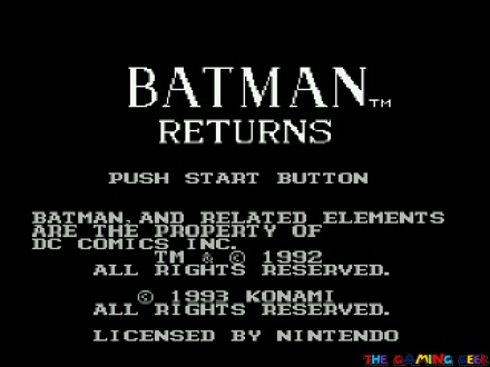 batman returns - title screen