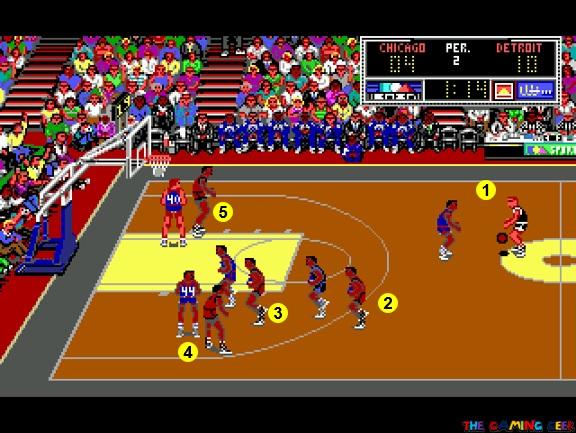 Bulls vs Pistons in-game