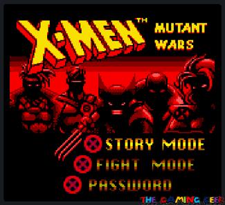 X-Men: Mutant Wars title screen