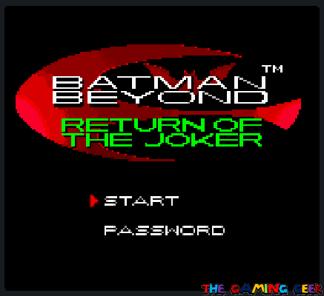 Batman Beyond - Title screen