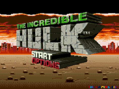 The Incredible Hulk - title screen