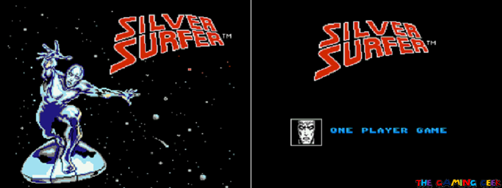 Silver Surfer - title screen