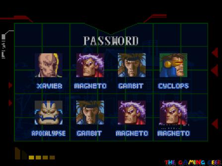 X-Men Mutant Apocalypse Password