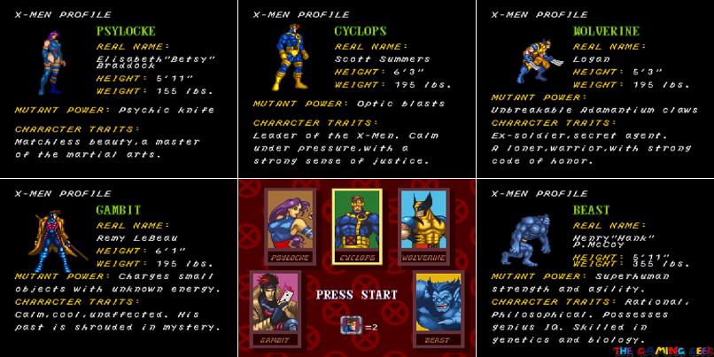 X-Men Mutant Apocalypse - playable characters