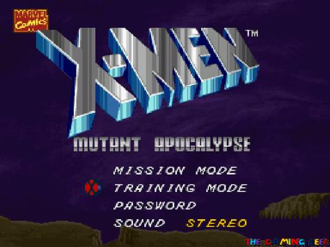 X-Men: Mutant Apocalypse title screen