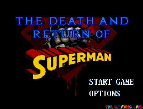 Death and Return of Superman - title screen