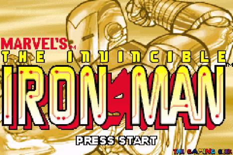 Invincible Iron Man - title screen
