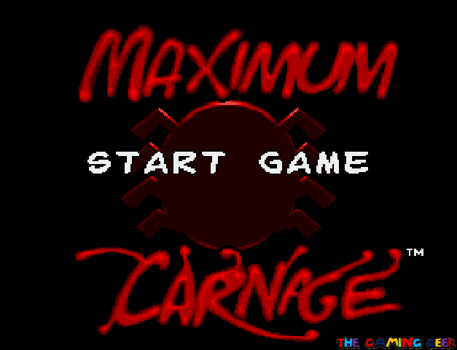 maximum carnage - title screen