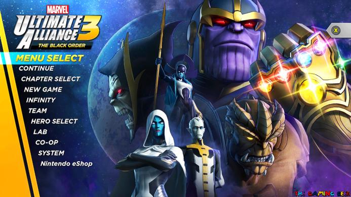 Ultimate Alliance 3 - Final Menu